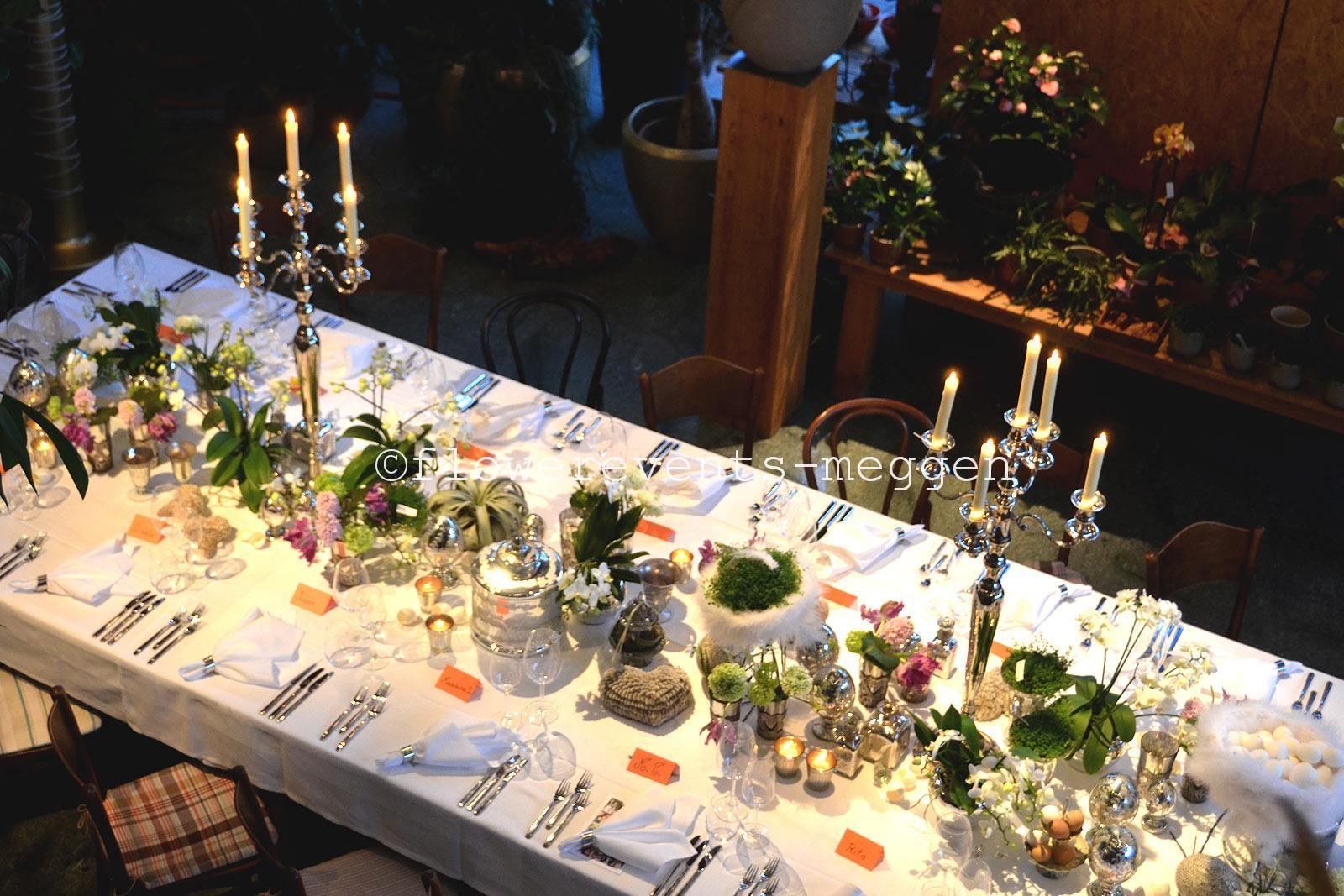 Private Events Tisch Blumen Festlichen Anlass Festtafel